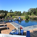 Swimming pool with view over the Lily Ponds